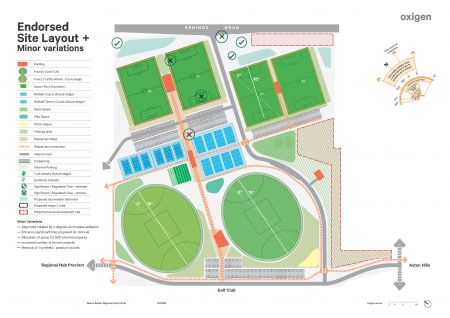 Regional Sports Hub Endorsed Site Layout with Minor Variations