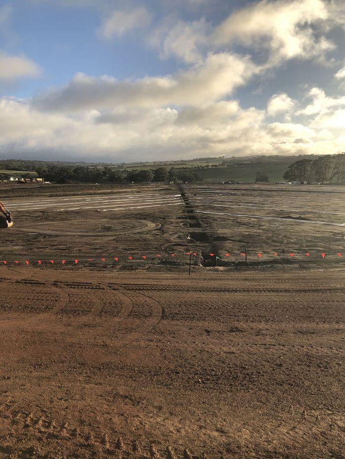 RSH megaflow drainage for premier oval April 2020