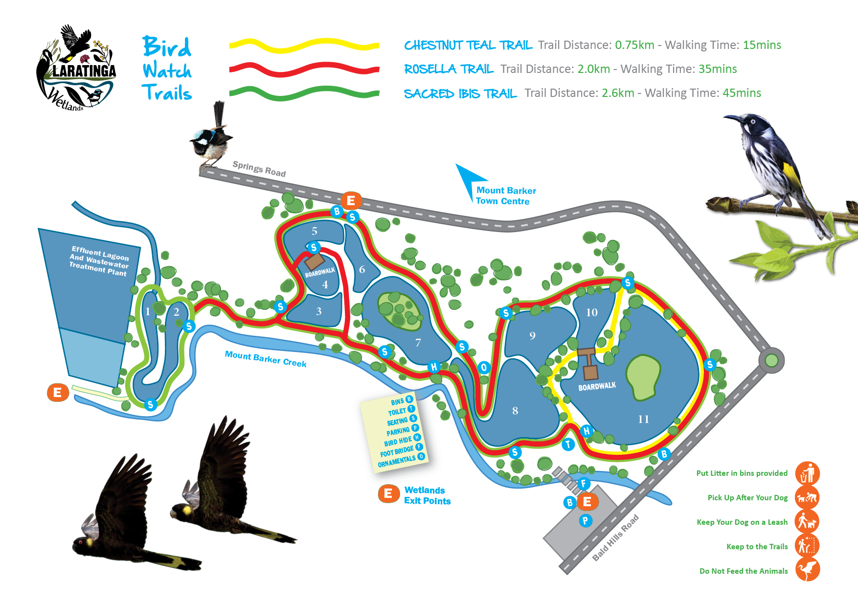 Laratinga Trail Map