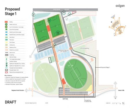 Regional Sports Hub Endorsed Site Layout with Minor Variations Stage 1