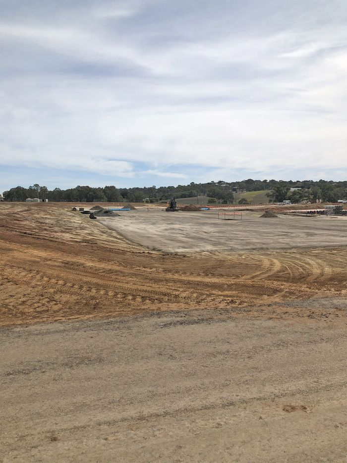 Lower car park -sub-surface services infrastructure being installed March 2020