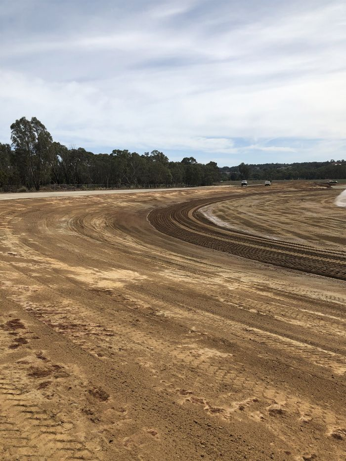 RSH Premier oval takes shape and upper car park March 2020