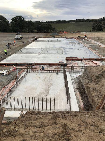 RSH Soccer building ground floor slab April 2020