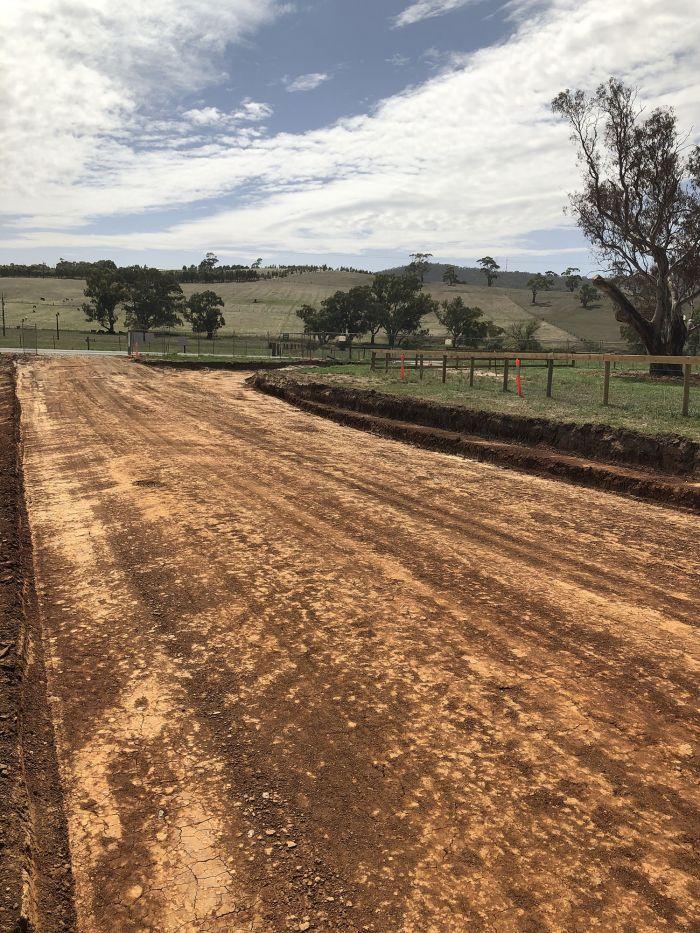 RSH entrance road taking shape March 2020
