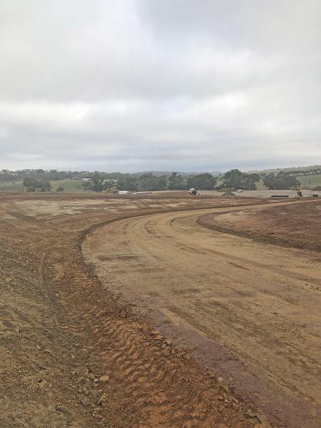 RSH internal road around premier oval March 2020