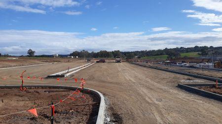 Internal carparking and roadways preparation