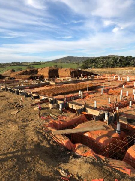 RSH Aussie rules-cricket building ground floor services and footings Early May 2020