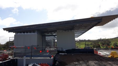 Building A Soccer Roofing Underway (side view) August 2020