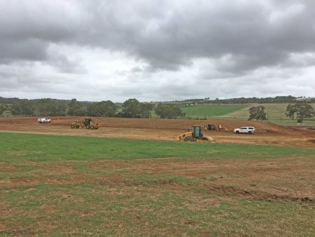 Lower car park and soccer pitches February 2020