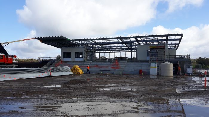 Building A Soccer Roofing Underway August 2020