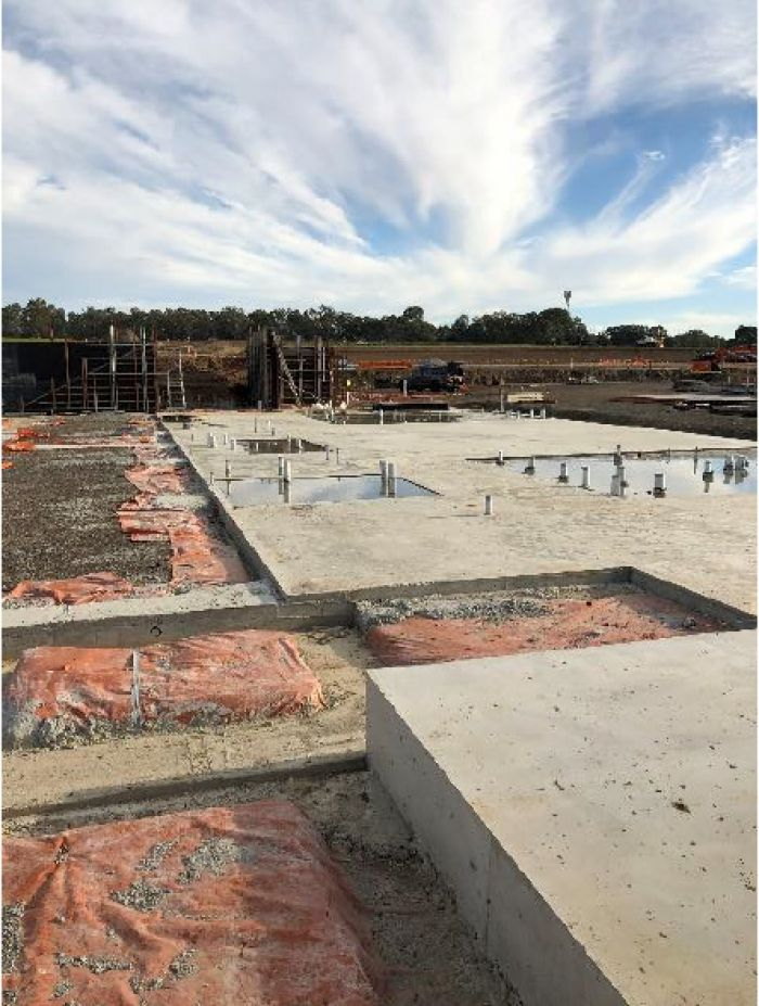 RSH Soccer building ground floor slab early May 2020