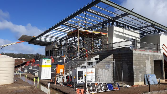 Building A first floor cladding August 2020